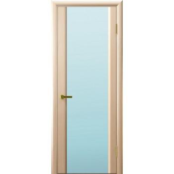 Дверь Legend Синай 3 беленый дуб, стекло белое