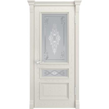 Дверь Luxor Гера-2 дуб RAL 9010, стекло