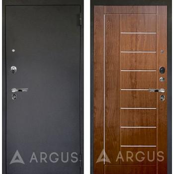 Сейф-дверь Аргус Люкс ПРО Черный шелк Фриза Дуб золотой
