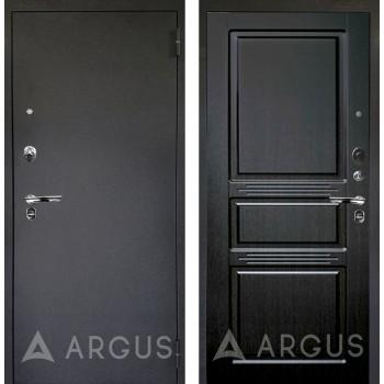 Сейф-дверь Аргус Люкс ПРО Черный шелк Сабина Венге тисненый