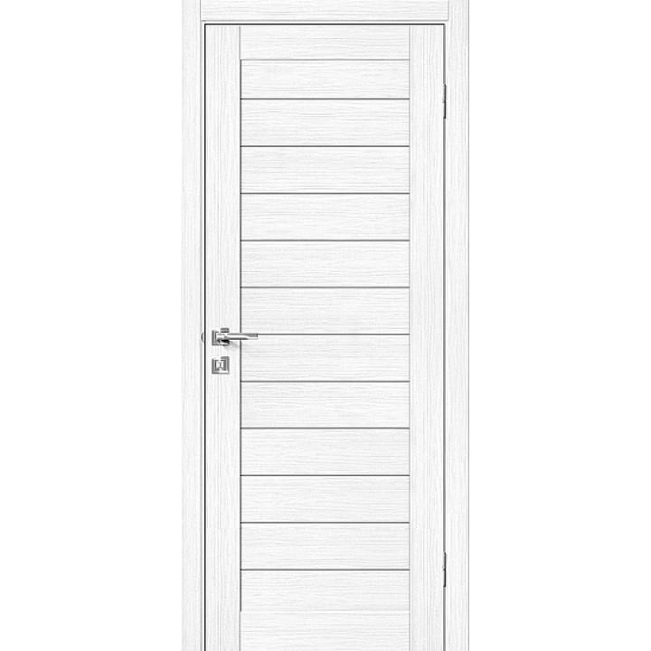 Дверь Браво Порта-21 экошпон сноу вералинга, глухая