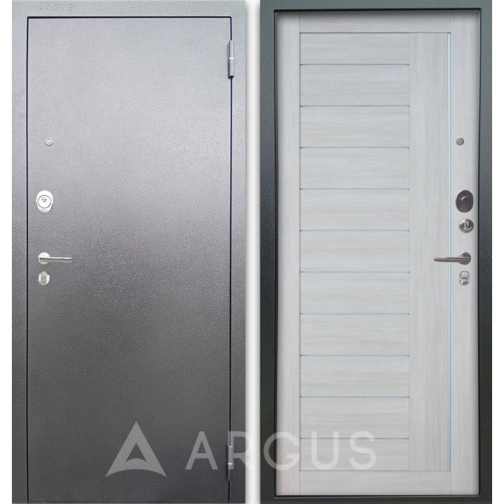 Сейф-дверь Аргус Люкс АС Серебро антик Диана Буксус