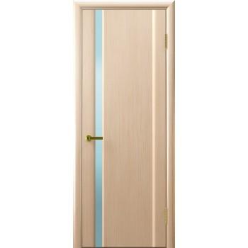 Дверь Legend Синай 1 беленый дуб, стекло белое