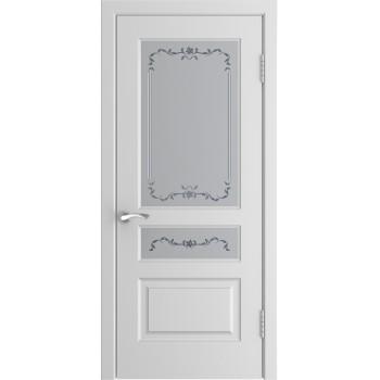 Дверь Luxor L-2 белая эмаль, стекло