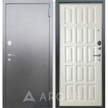 Сейф-дверь Аргус Люкс АС Серебро антик Голд Белое дерево