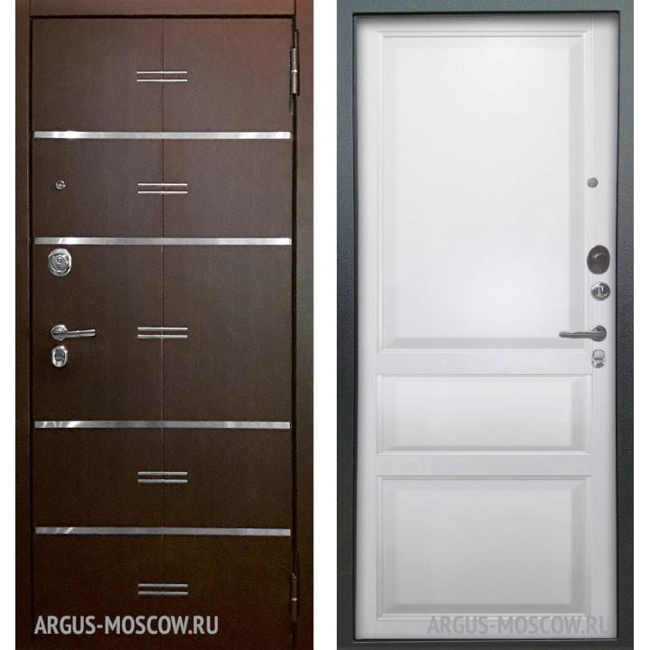 Сейф-дверь Аргус Люкс АС 2П Лайн Венге/Каролина Эмаль белая