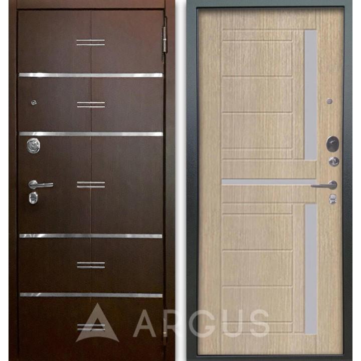 Сейф-дверь Аргус Люкс АС 2П Лайн Венге/Альфред Капучино