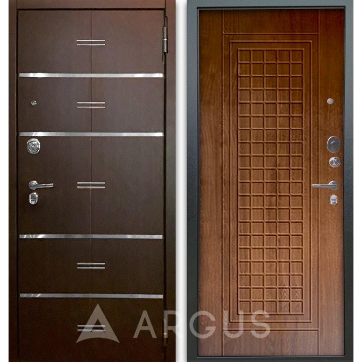 Сейф-дверь Аргус Люкс АС 2П Лайн Венге/Альма Дуб золотой