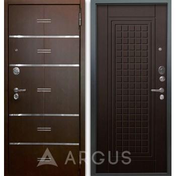 Сейф-дверь Аргус Люкс АС 2П Лайн Венге/Альма Венге тисненый