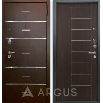 Сейф-дверь Аргус Люкс АС 2П Лайн Венге/Фриза Венге тисненый