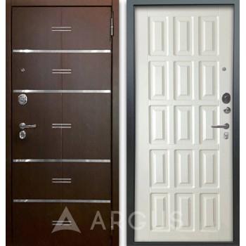 Сейф-дверь Аргус Люкс АС 2П Лайн Венге/Голд Белое дерево