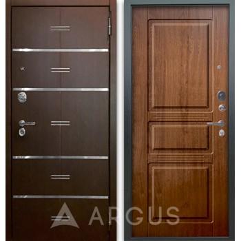 Сейф-дверь Аргус Люкс АС 2П Лайн Венге/Сабина Дуб золотой