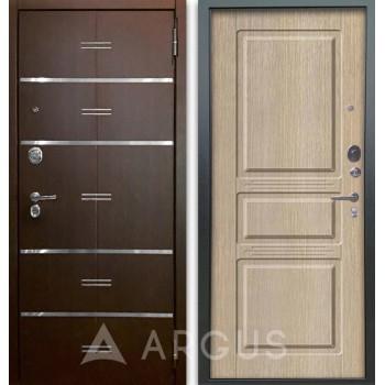 Сейф-дверь Аргус Люкс АС 2П Лайн Венге/Сабина Капучино