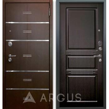 Сейф-дверь Аргус Люкс АС 2П Лайн Венге/Сабина Венге тисненый