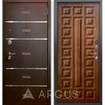 Сейф-дверь Аргус Люкс АС 2П Лайн Венге/Сенатор Дуб золотой