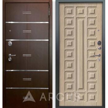 Сейф-дверь Аргус Люкс АС 2П Лайн Венге/Сенатор Капучино