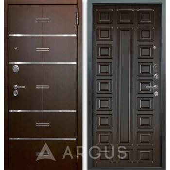 Сейф-дверь Аргус Люкс АС 2П Лайн Венге/Сенатор Венге тисненый