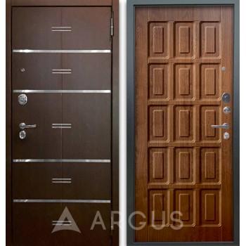 Сейф-дверь Аргус Люкс АС 2П Лайн Венге/Шоколад Дуб золотой