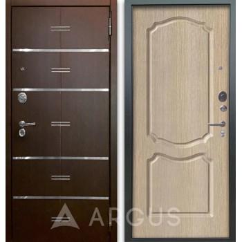 Сейф-дверь Аргус Люкс АС 2П Лайн Венге/Сонет Капучино