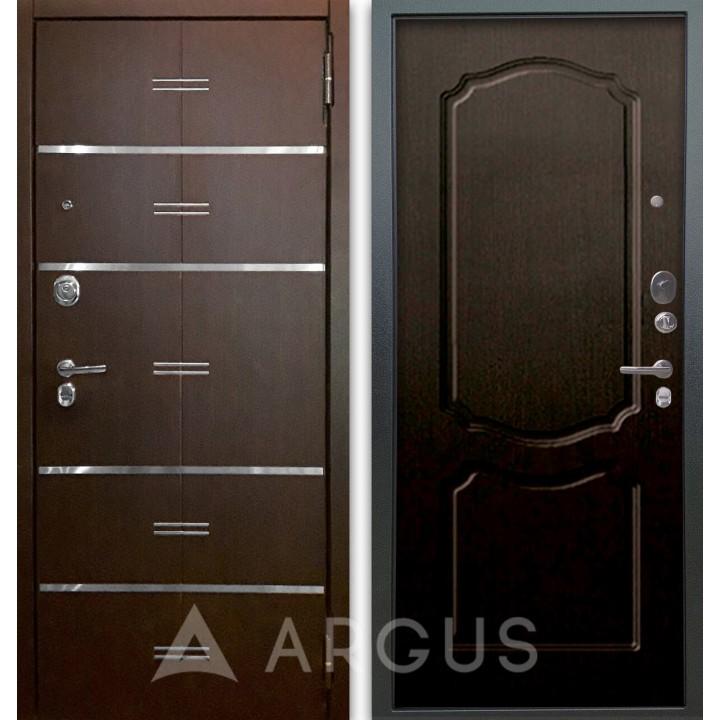 Сейф-дверь Аргус Люкс АС 2П Лайн Венге/Сонет Венге тисненый