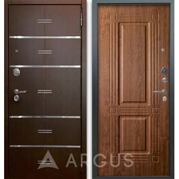 Сейф-дверь Аргус Люкс АС 2П Лайн Венге/Триумф Дуб золотой
