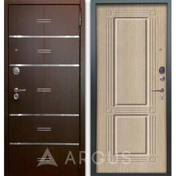 Сейф-дверь Аргус Люкс АС 2П Лайн Венге/Триумф Капучино