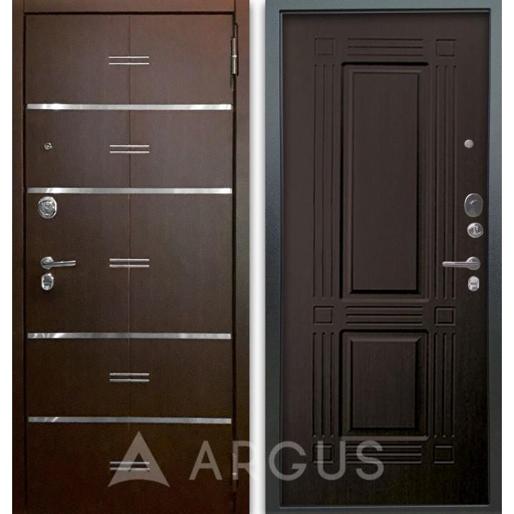Сейф-дверь Аргус Люкс АС 2П Лайн Венге/Триумф Венге тисненый