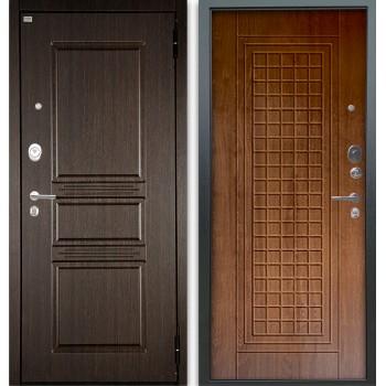 Сейф-дверь Аргус Люкс АС 2П Сабина Венге/Альма Дуб золотой