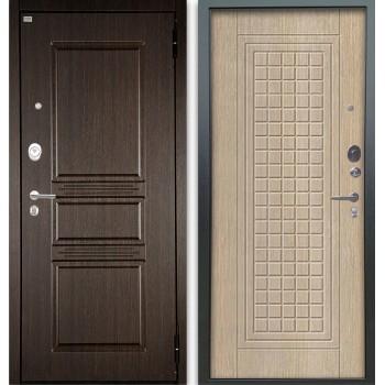 Сейф-дверь Аргус Люкс АС 2П Сабина Венге/Альма Капучино