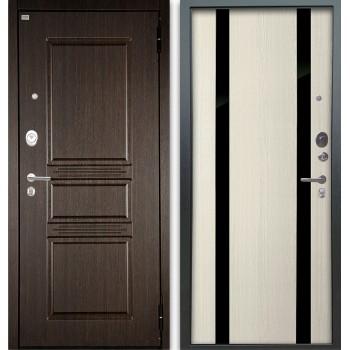 Сейф-дверь Аргус Люкс АС 2П Сабина Венге/Дуэт Белое дерево