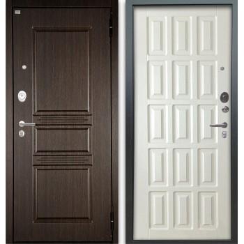 Сейф-дверь Аргус Люкс АС 2П Сабина Венге/Голд Белое дерево