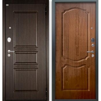 Сейф-дверь Аргус Люкс АС 2П Сабина Венге/Сонет Дуб золотой