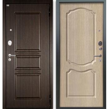 Сейф-дверь Аргус Люкс АС 2П Сабина Венге/Сонет Капучино