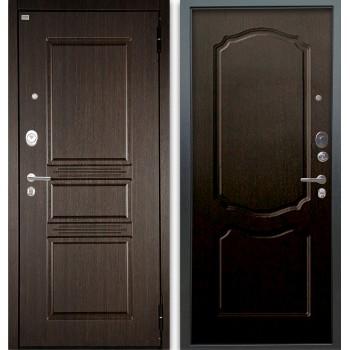 Сейф-дверь Аргус Люкс АС 2П Сабина Венге/Сонет Венге тисненый