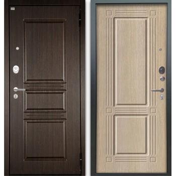 Сейф-дверь Аргус Люкс АС 2П Сабина Венге/Триумф Капучино
