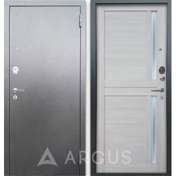 Сейф-дверь Аргус Люкс АС Серебро антик Мирра Буксус
