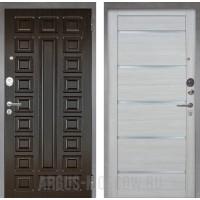 Сейф-дверь Аргус Люкс ПРО 2П Серебро антик Сенатор Венге/Александра Буксус
