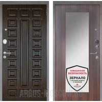 Сейф-дверь Аргус Люкс ПРО 2П Серебро антик Сенатор Венге/Милли Коньяк Калифорния