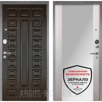 Сейф-дверь Аргус Люкс ПРО 2П Серебро антик Сенатор Венге/Вояж Белое дерево