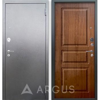 Сейф-дверь Аргус Люкс АС Серебро антик Сабина Дуб золотой