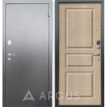 Сейф-дверь Аргус Люкс АС Серебро антик Сабина Капучино