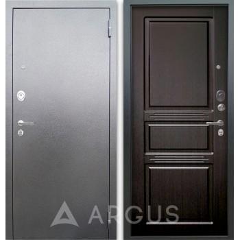 Сейф-дверь Аргус Люкс АС Серебро антик Сабина Венге тисненый