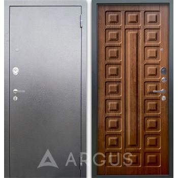 Сейф-дверь Аргус Люкс АС Серебро антик Сенатор Дуб золотой