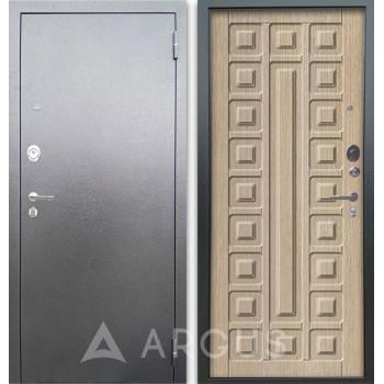 Сейф-дверь Аргус Люкс АС Серебро антик Сенатор Капучино