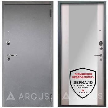 Сейф-дверь Аргус Люкс ПРО Серебро антик Вояж Белое дерево