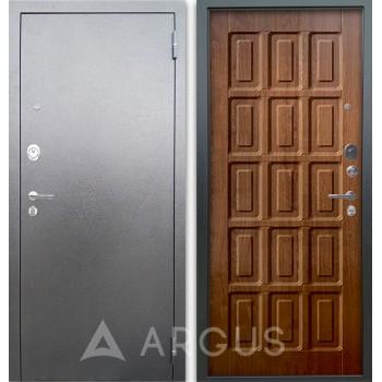 Сейф-дверь Аргус Люкс АС Серебро антик Шоколад Дуб золотой