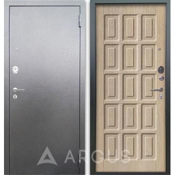 Сейф-дверь Аргус Люкс АС Серебро антик Шоколад Капучино