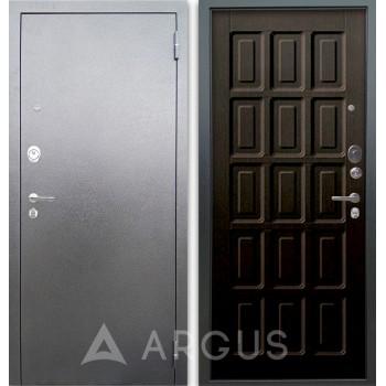 Сейф-дверь Аргус Люкс АС Серебро антик Шоколад Венге тисненый
