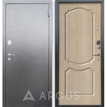 Сейф-дверь Аргус Люкс АС Серебро антик Сонет Капучино