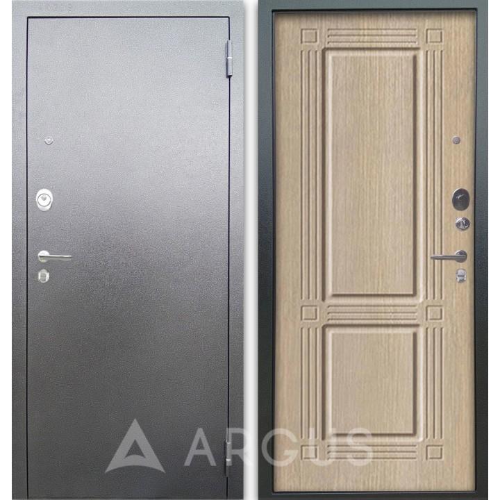 Сейф-дверь Аргус Люкс АС Серебро антик Триумф Капучино